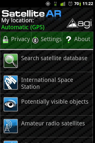 Satellite AR Screenshot